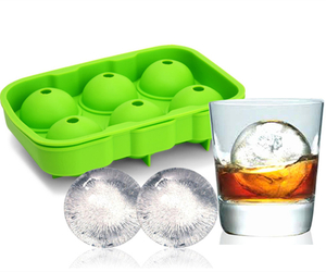 Wholesale 6 Cavities Ice Ball Moulds Sphere Ice Cube Tray
