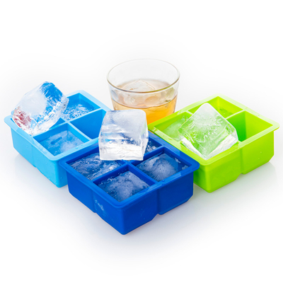 4 Cavity New Colorful Square Types of Joie X-large Silicone Ice Cube Tray Circular