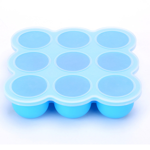 New Arrival Safety Eco-friendly Collapsible 7 Compartments Large Silicone Baby Food Freezer Container Storage