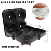 Wholesale Ice Diamond Moulds Large Silicone Ice Cube Tray, Silicone Diamond Ice Cube Tray