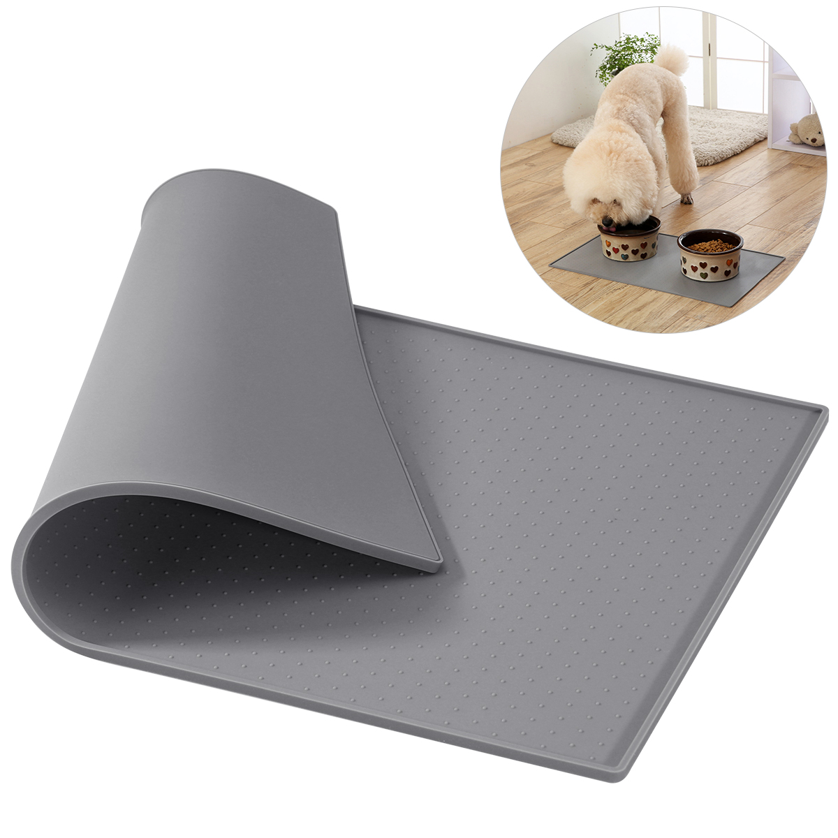 Manufacturer Wholesale OEM Custom Logo Silicone Dog Mat Pet Silicone Feeding Bowl Mat Silicone Pet Food Mat
