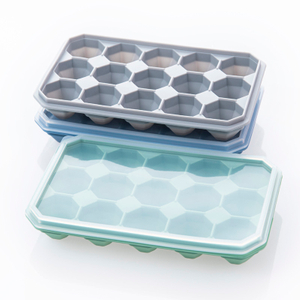 New Generation OEM Amazon Hot Selling 15 Cavities Diamond Ice Cube Tray Silicone Ice Cream Mold