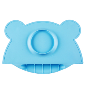 Child Waterproof Lovely Silicone Food Mat with Bowl Silicone Table Mat, Silicone Baby Mat, High Quality Baby Bowl